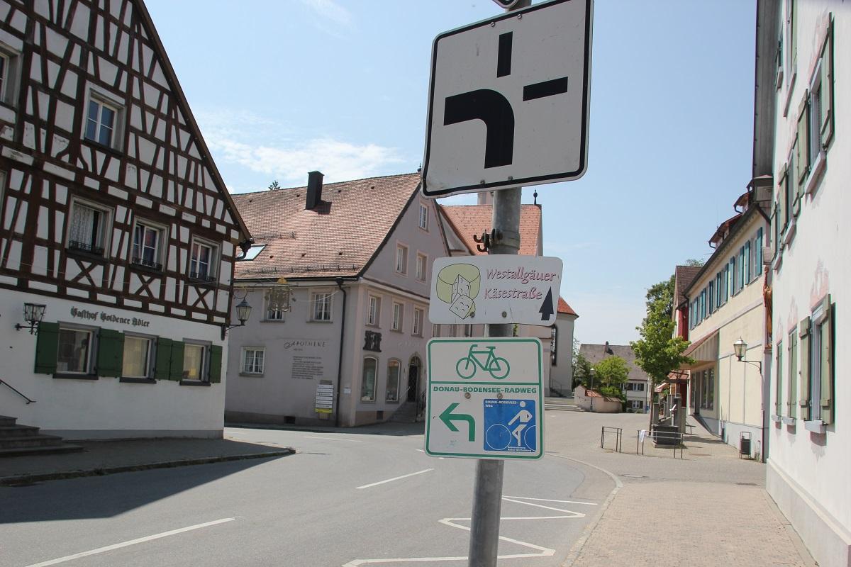 Donau-Bodensee Radweg in Kisslegg