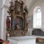 Kloster Heiligkreuztal Altheim Altar und Taufbecken