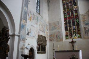Kloster Heiligkreuztal Altheim Gotische Wandmalerei Ecke