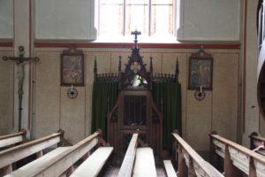 Beichtstuhl Neogotik Kirche St Martin Erolzheim