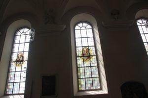 Heilige in den Fenstern Mariae Heimsuchung Meersburg