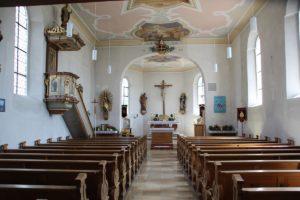 Kirchenschiff St Ottilia Muehlhausen