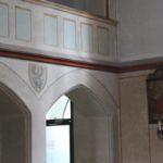 Wappen und Ecke Kirche St Martin Erolzheim