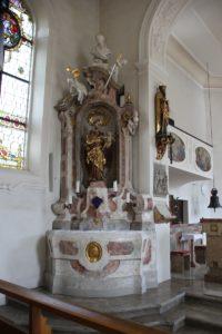 Linker Seitenaltar St Peter und Paul Herdwangen
