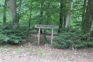 Schild Winterhaldenweg Erolzheimer Wald