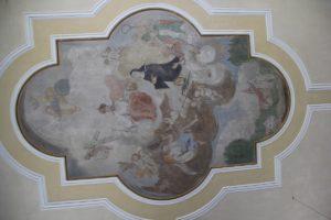 Deckenbildnis St Odilia Kirche Fischbach
