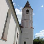 Kirchturm St Odilia Fischbach