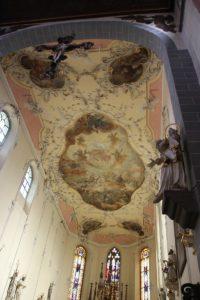 Barocke Deckenmalerei St Stephan Konstanz