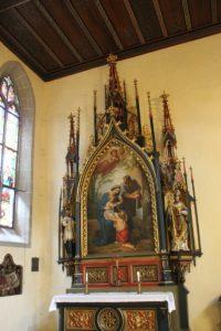 Neogotischer Seitenaltar links St Stephan Konstanz