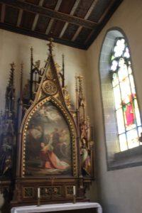 Neogotischer Seitenaltar rechts St Stephan Konstanz