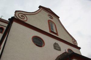 Barocke Fassade St Jakobus Eggmannsried
